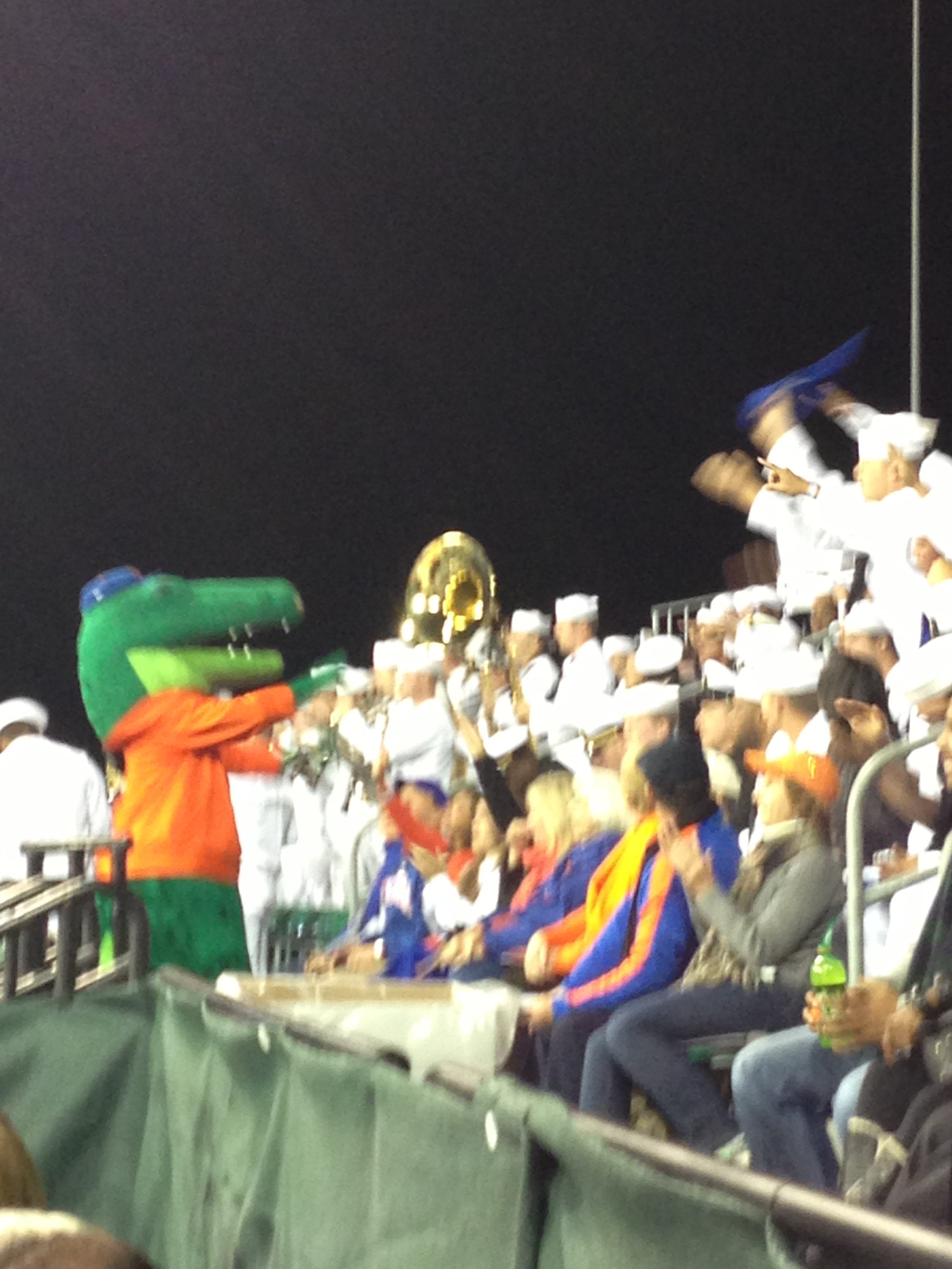 Albert Gator Chomping with the Navy