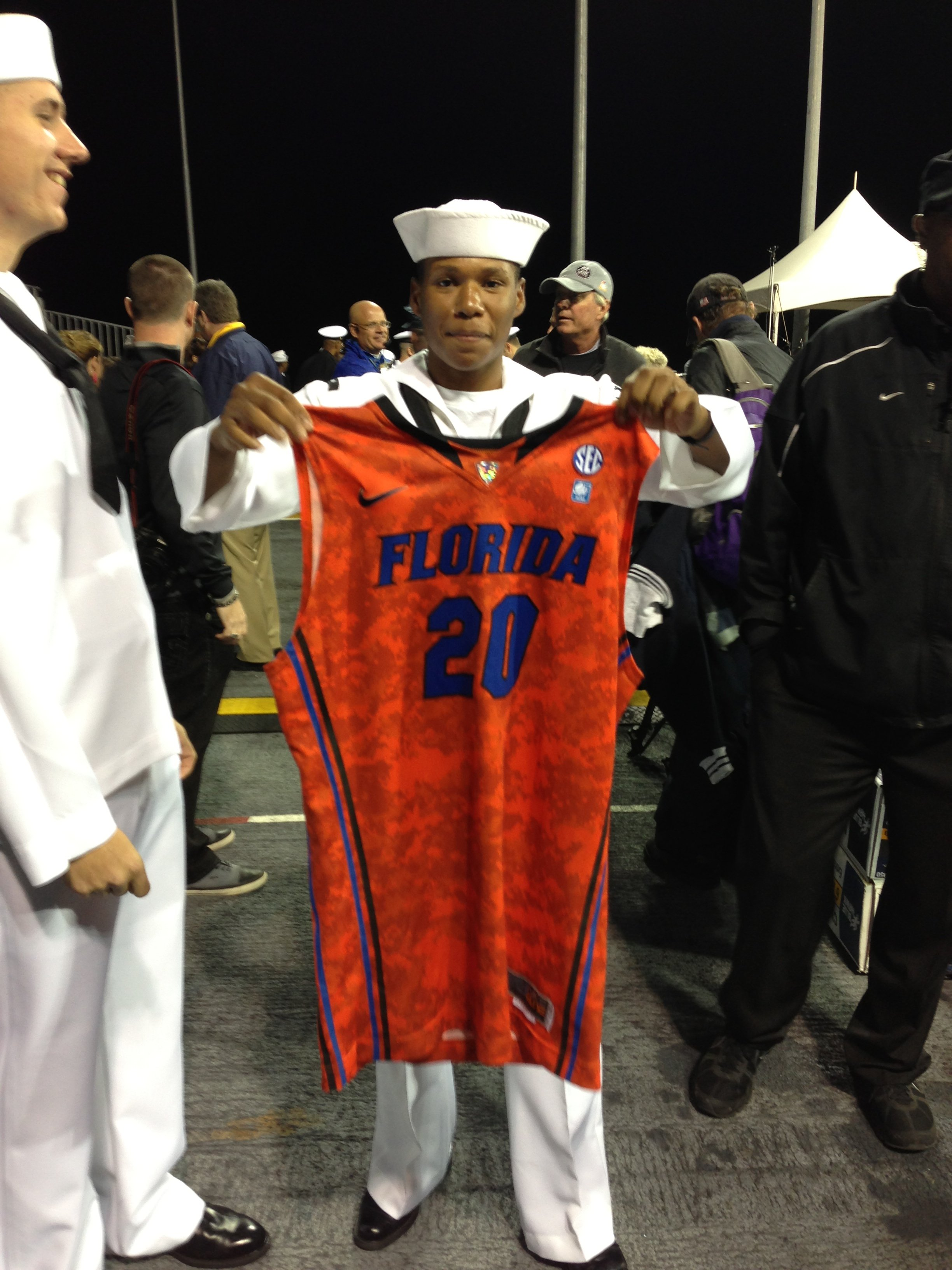 Sailor with Michael Frazier's No. 20