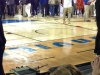 Floor with condensation