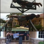 Former Gators RB Fred Taylor planking at home