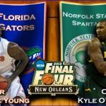 2012 NCAA Tournament: (7) Florida vs. (15) NSU