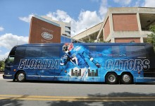 LOOK: Florida Gators unveil sharp new bus for club tour