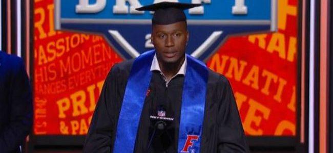 Watch as Carlos Dunlap graduates from Florida at the NFL Draft ...