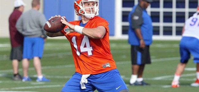 Report: Florida starting QB Luke Del Rio to miss 'at least' two weeks