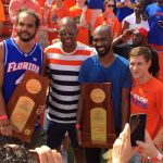 WATCH: Florida back-to-back basketball champs honored on field, perform as Mr. Two-Bits