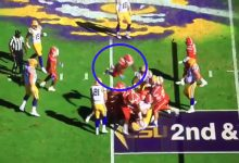 WATCH: Florida DB jumps off the top rope to splash a pile of players