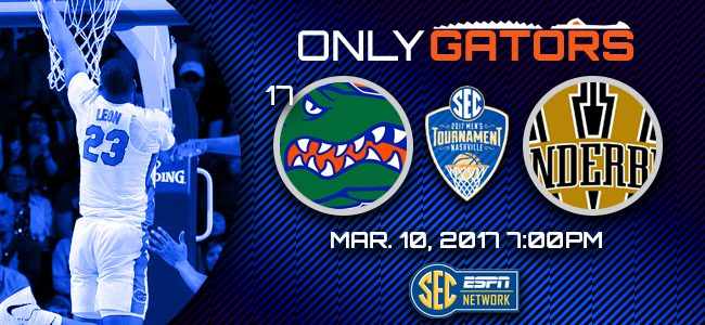 Florida Gators vs. Vanderbilt: Pick, prediction, watch live stream for 2017 SEC Tournament