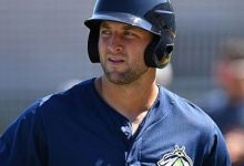 WATCH: Former Gators QB Tim Tebow hits home run in minor league debut