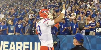 WATCH: Florida QB Feleipe Franks gets pulled but still expertly trolls Kentucky fans