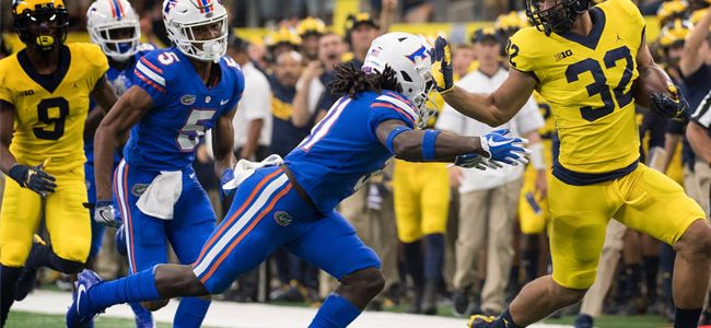 2018 Peach Bowl, Florida vs. Michigan: Gators' history against the Wolverines