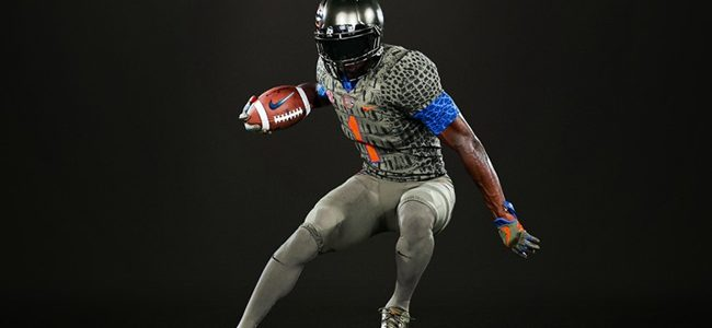 LOOK: Florida Gators honor 25 years of 'The Swamp' with green scale alternate uniforms