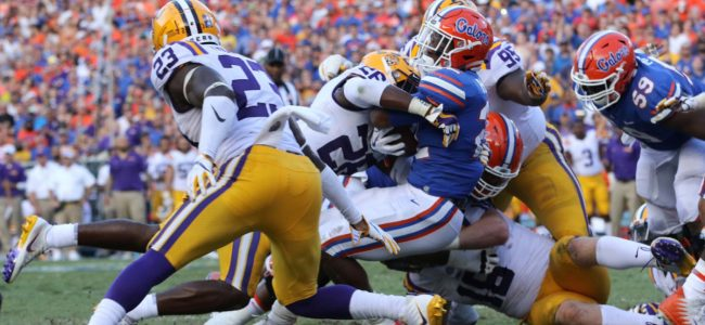 161f559761b No. 22 Florida football opens as short home underdog vs. No. 5 LSU ...