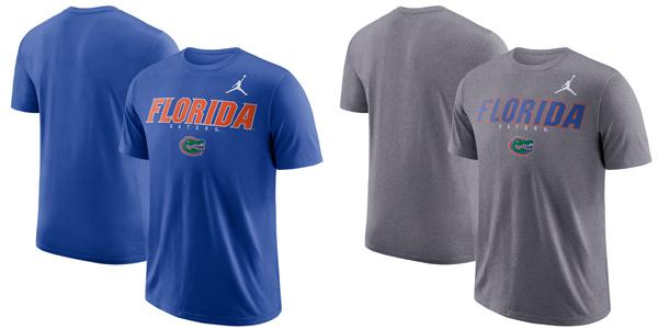 a1c8681ea23476 Florida Gators Jordan Brand Facility Dri-FIT Cotton T-Shirt — Buy in Blue  or Charcoal