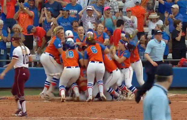 Clutch walk-off homer sends Florida softball to 2018 Women's College World Series