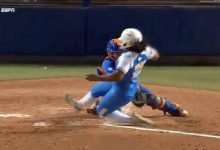 Confounding blown call helps UCLA upend Florida in Game 2 of 2018 WCWS