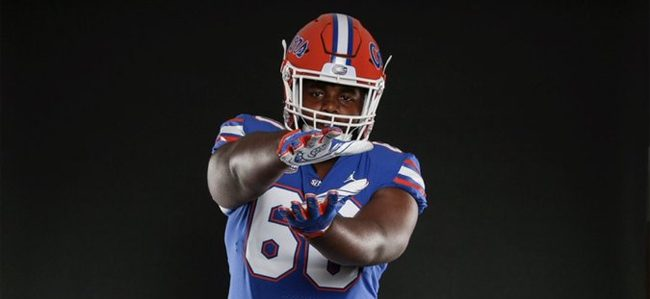 Four-star 2019 OL William Harrod commits to Florida football after season opener