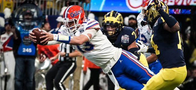 2018 peach bowl florida vs michigan score takeaways gators rout