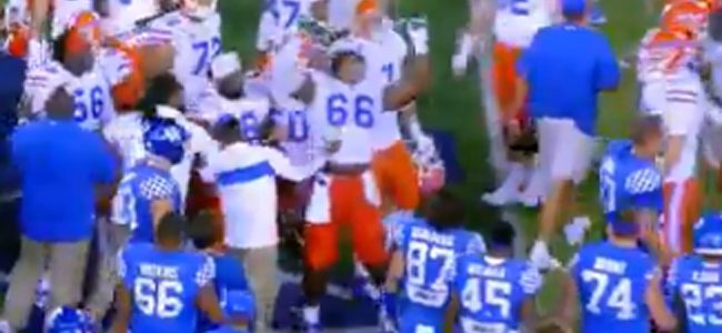 WATCH: Florida player summons 'Stone Cold' Steve Austin, gets revenge for Kentucky celebration