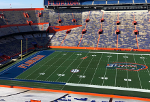 LOOK: Florida Gators to debut blue end zones vs. Florida State