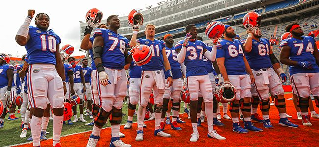 College football rankings: Florida Gators hold in AP Top 25, inch up in Coaches Poll
