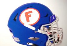 LOOK: Florida Gators unveil blue throwback helmets as part of 1960s uniform for Missouri game