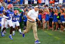 Florida coach Dan Mullen fined for role in brawl, two Gators suspended first half vs. Georgia