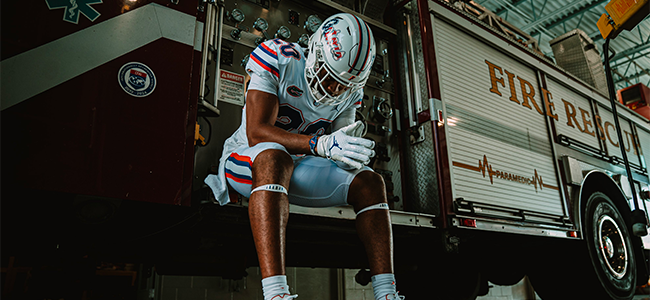 LOOK: Florida Gators unveil American flag script white helmets for 20th anniversary of 9/11 game